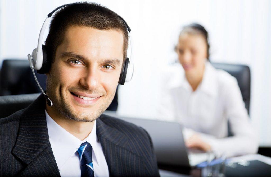 Male Call Centre Operator